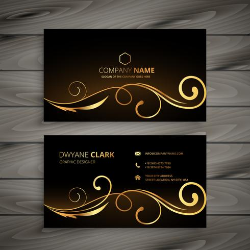 premium floral business card vector design illustration
