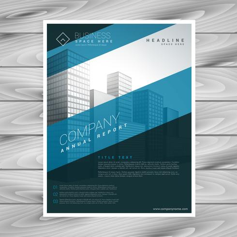 abstract blue company flyer template