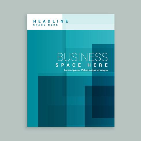 business cover page template brochure