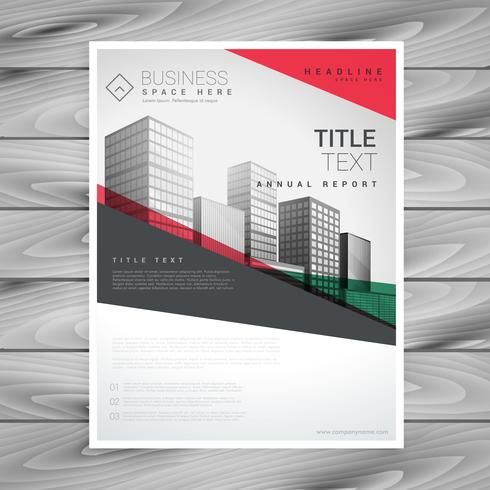 rote geometrische Business Flyer Poster Design-Vorlage