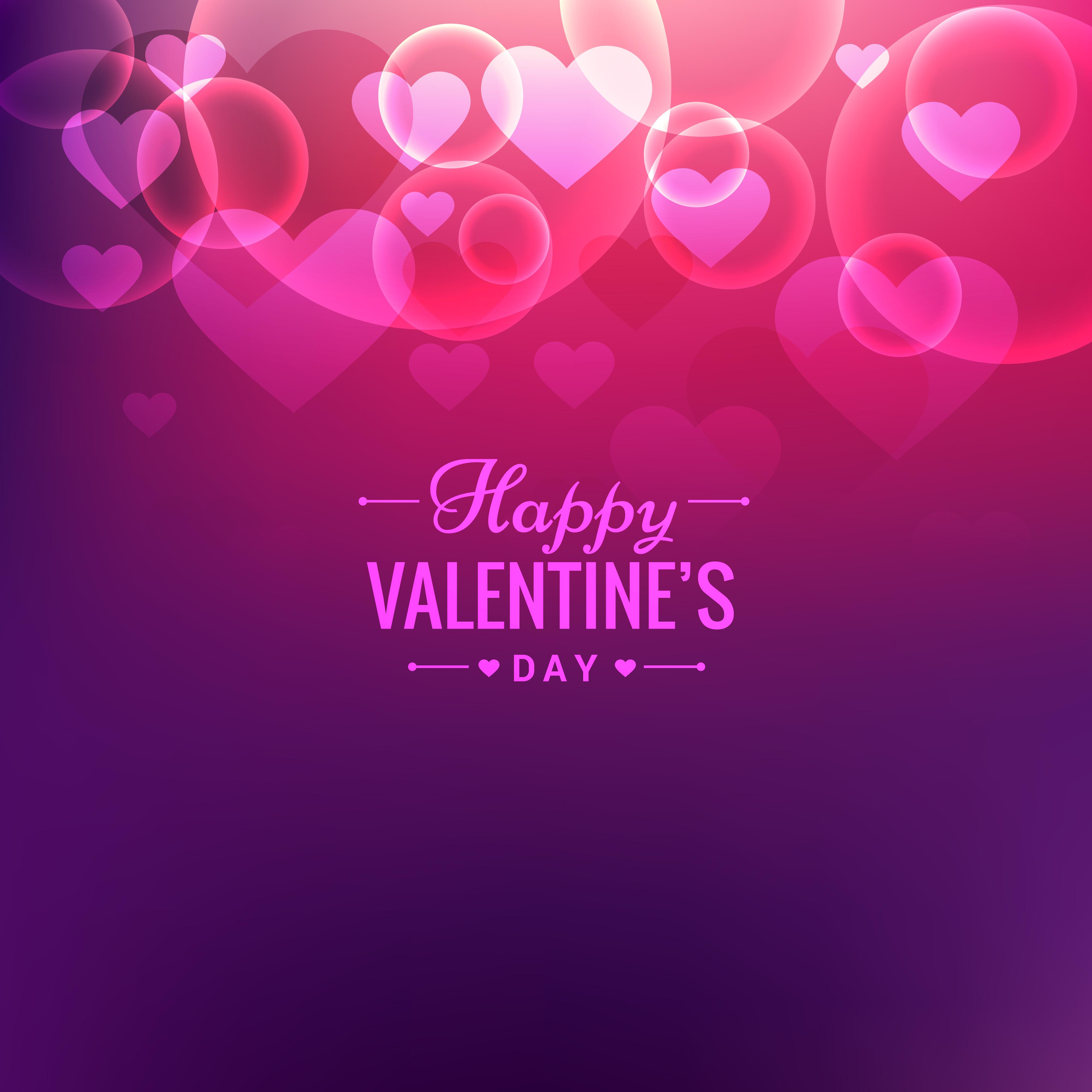 Valentines Day Wallpaper: Valentines Day Beautiful Background Vector Design
