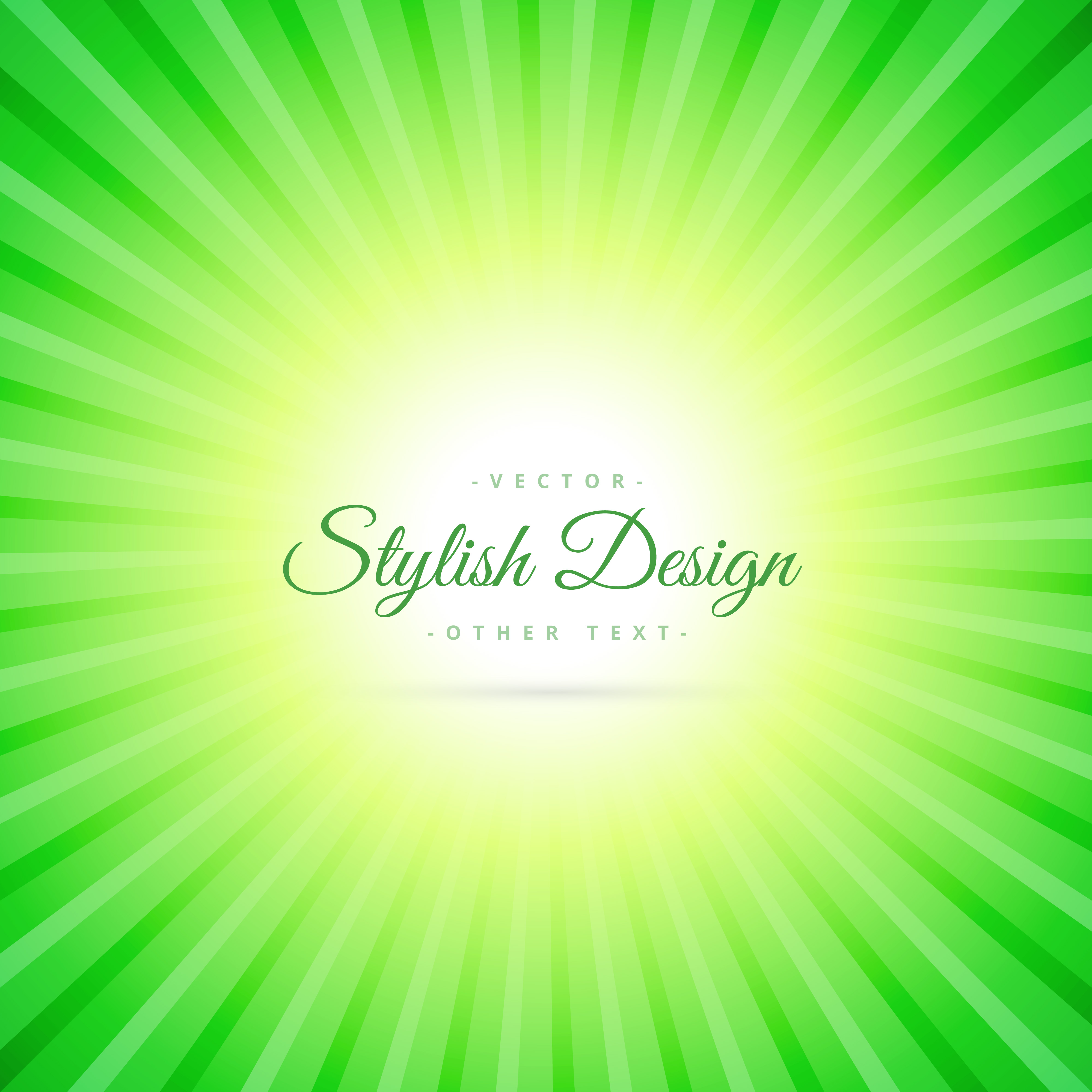 Green Sunburst Background Download Free Vector Art