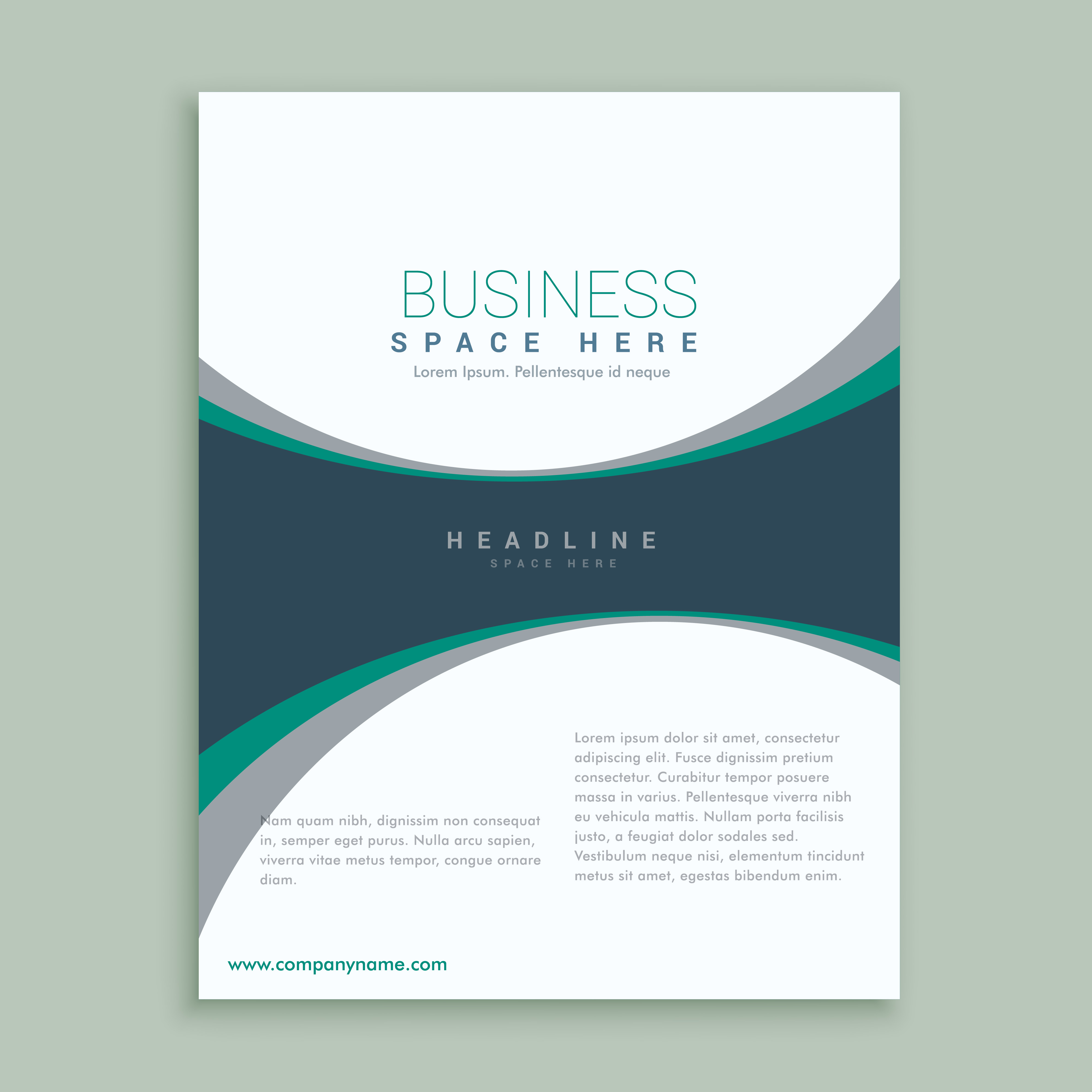 elegant magazine cover page or brochure design template