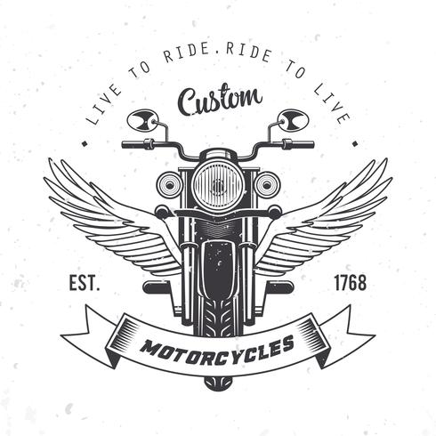 Vecteur d'emblème de moto Vintage