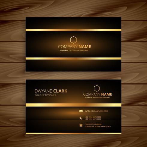 premium luxury business card design template vector design illus