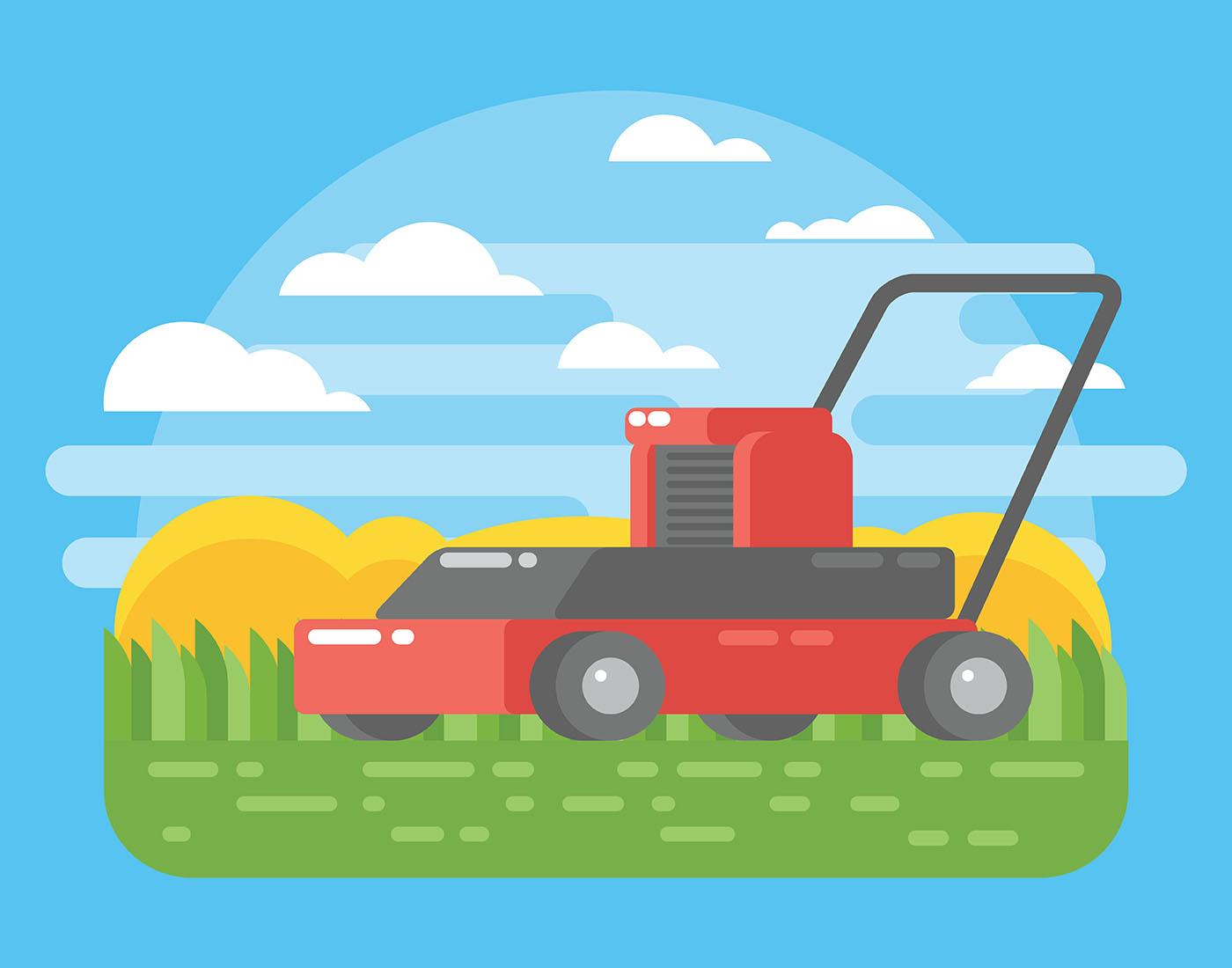 Lawn Mower Illustration Download Free Vectors Clipart