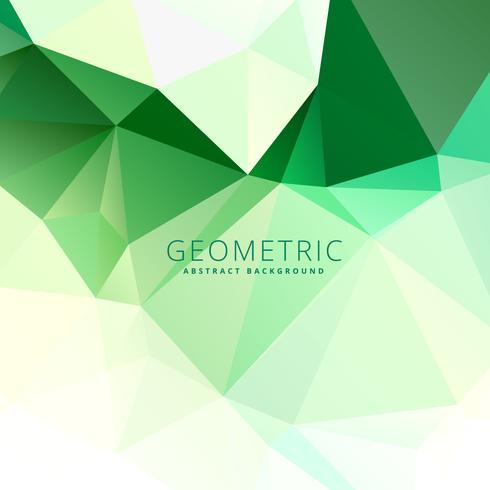 abstract green low poly template