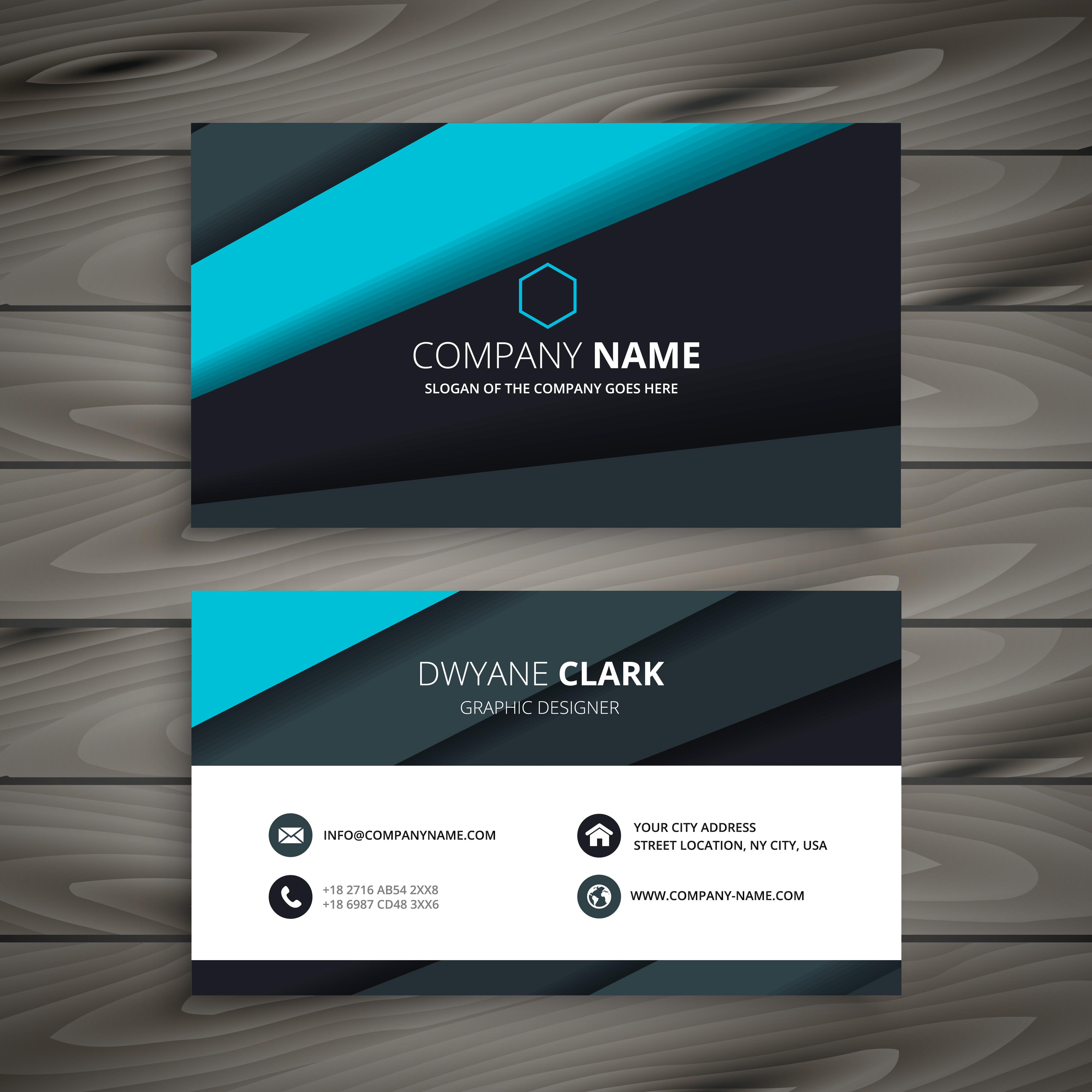 elegant modern business card template vector design