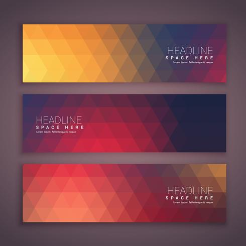 geometrical banners template set