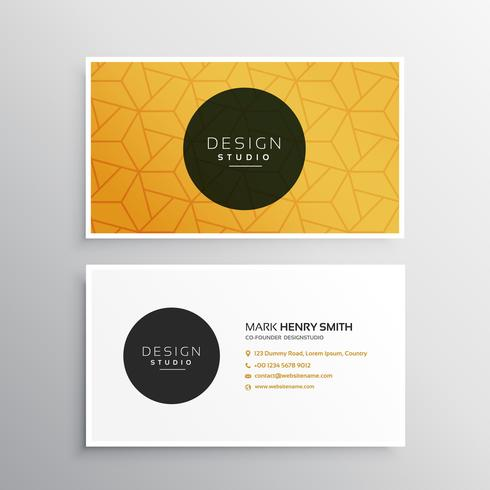 clean minimal business card template with pattern shape
