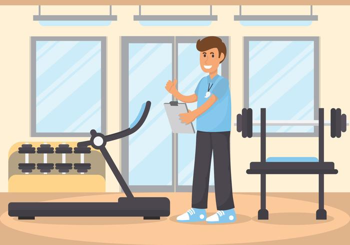 stylist fitness trainer vector