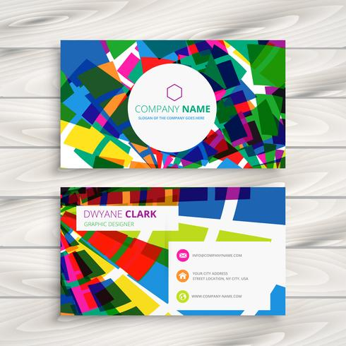 funky business card template vector design illustration