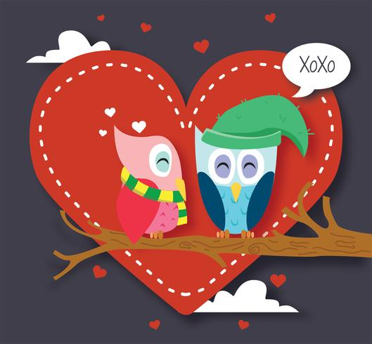 Gufi in Love Vector Design