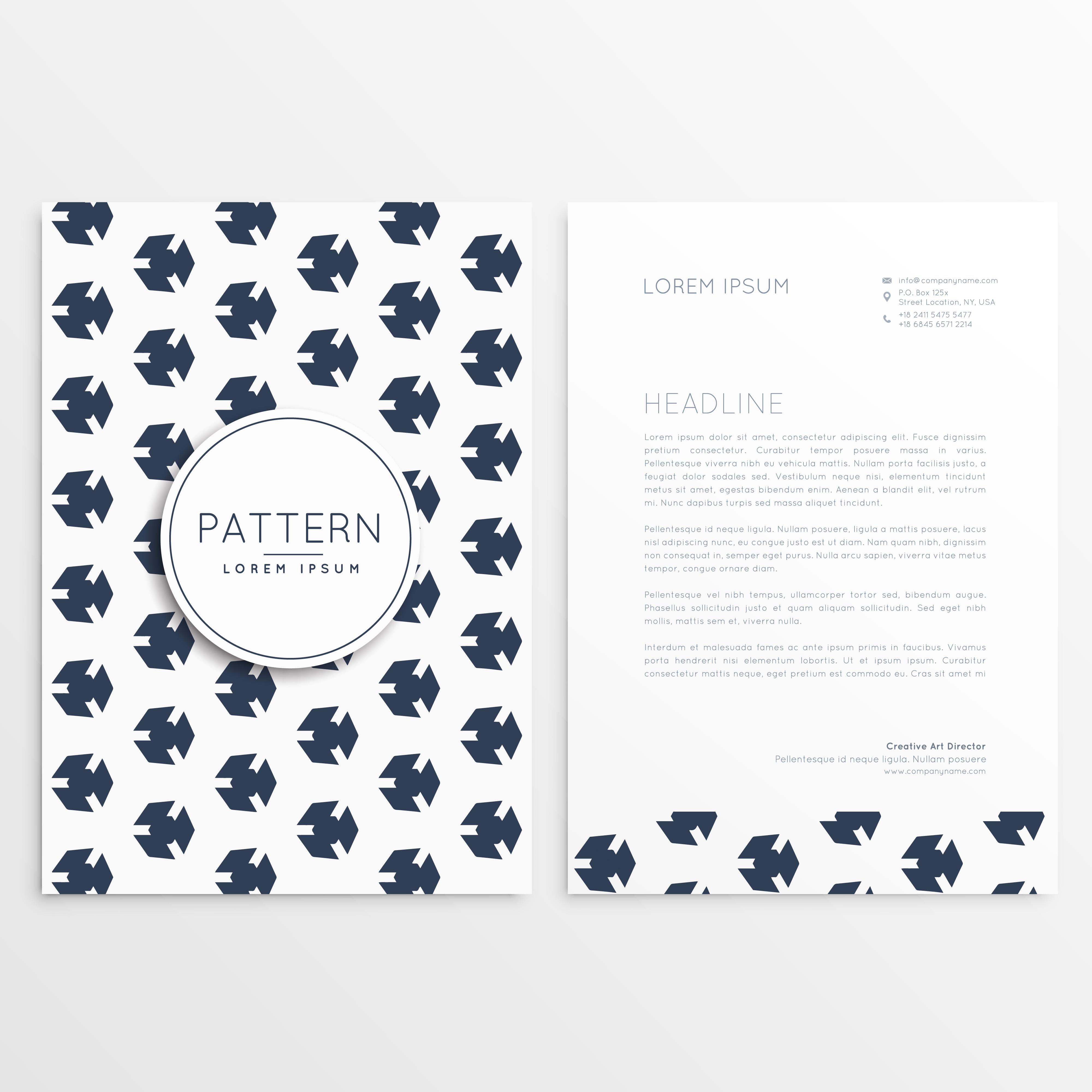 Clean Corporate Letterhead Template: Clean Minimal Letterhead Template Design