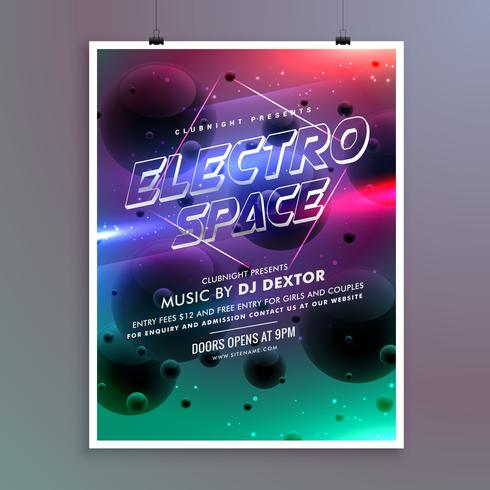 Party Event Invitation Flyer Template  Download Free Vector Art