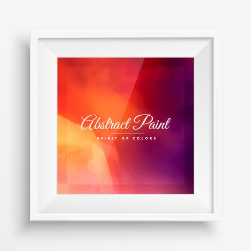 abstract colorful background with realistic frame