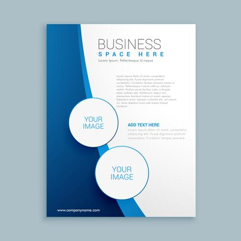 company brochure template design download free vector