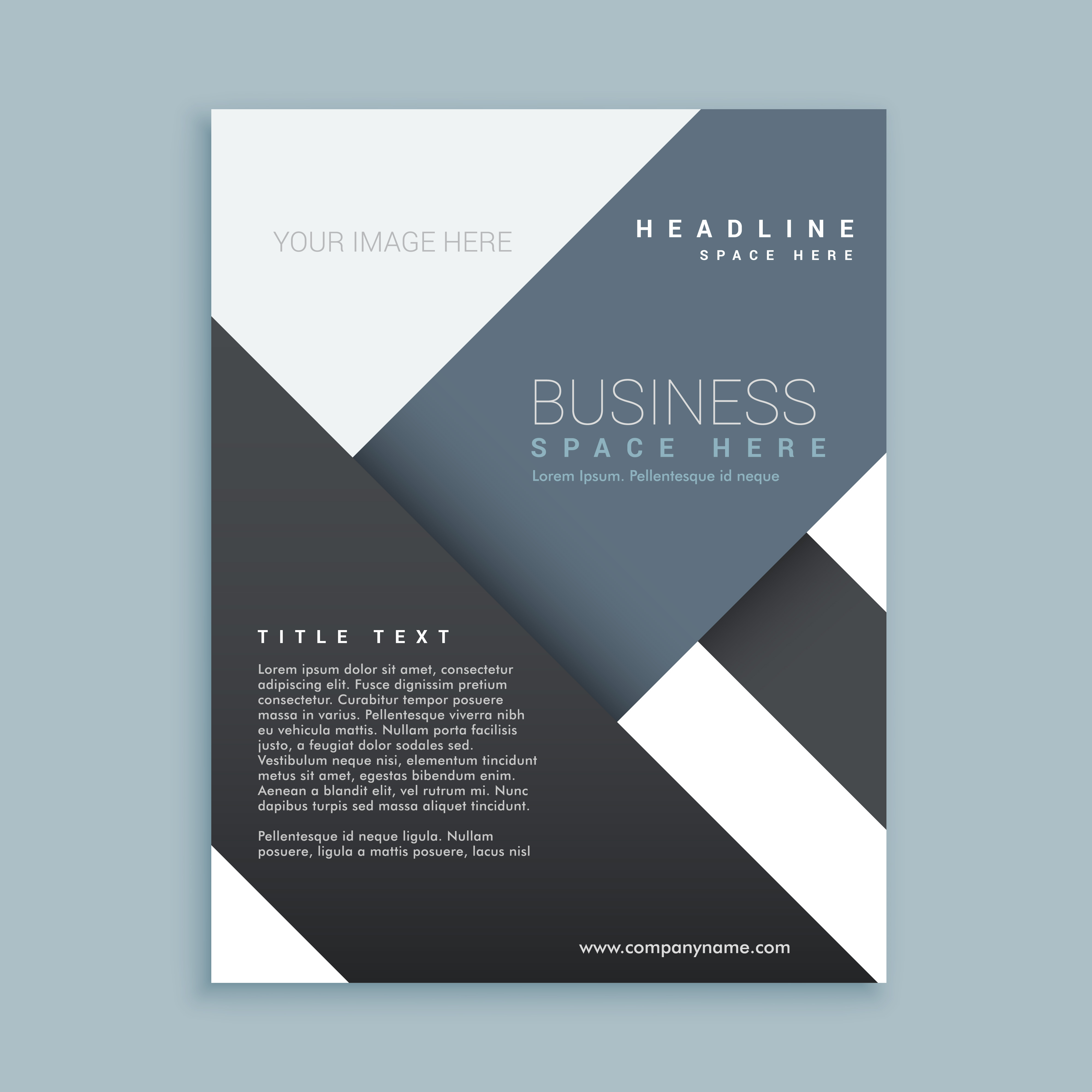 abstract promotional company brochure template poster