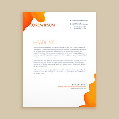 creative ink design letterhead template vector design illustrati