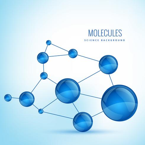 molecule shape concept design illustration