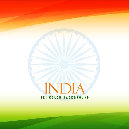 indian flag tricolor background vector design illustration