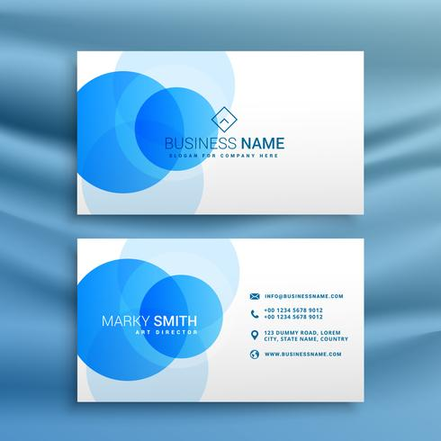 white and blue dots business card design template