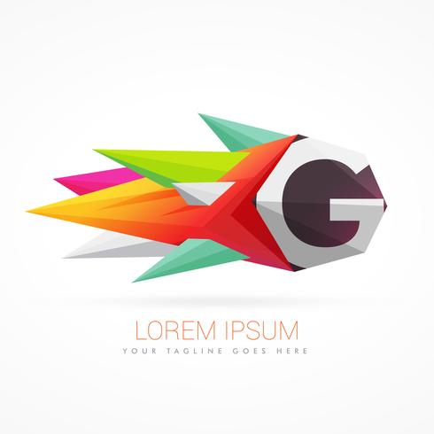 colorful abstract logo with letter G