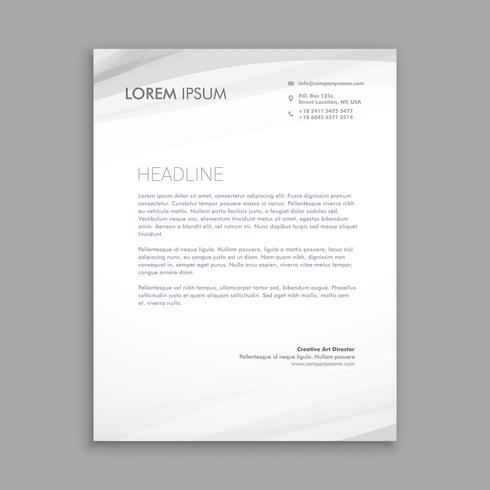clean minimal lettehead design template vector design illustrati