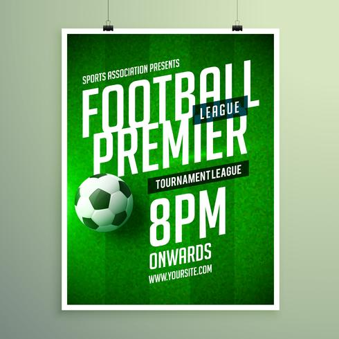 soccer league flyer design sports invitation template