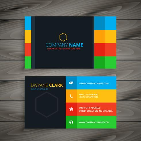 dark simple business card template vector design illustration