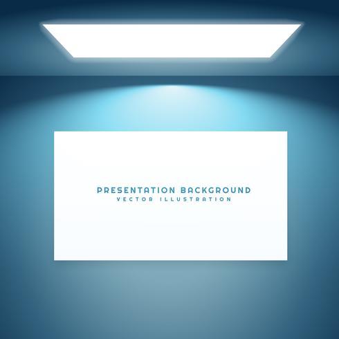 presentation board in empty room