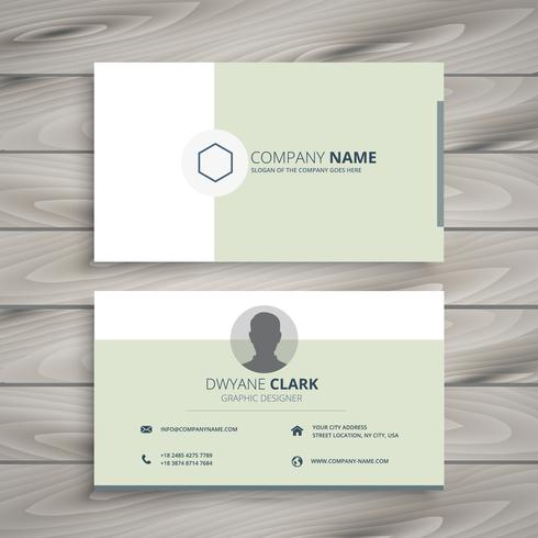 clean business card template vector design illustration