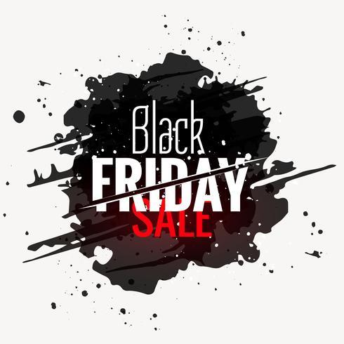 svart fredag försäljning grunge stil etikett design