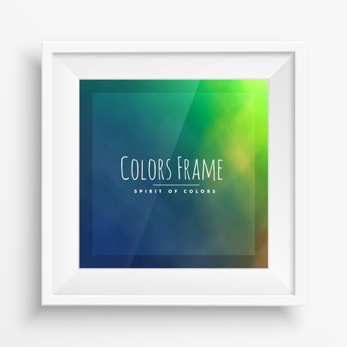 colors frame with realistic frame
