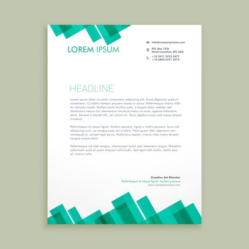 abstract letterhead business template vector design illustration
