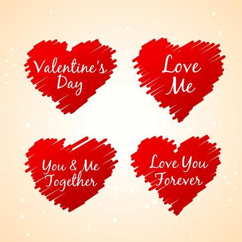 set of love hearts vector design illustration