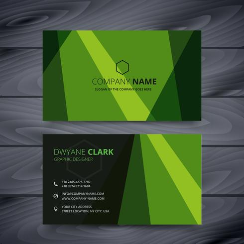 green business card design template