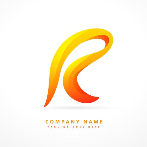 letter logo template design illustration