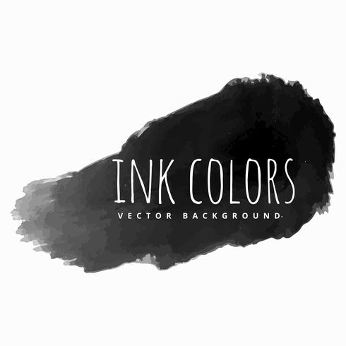 black ink paint strokes vector design illustration