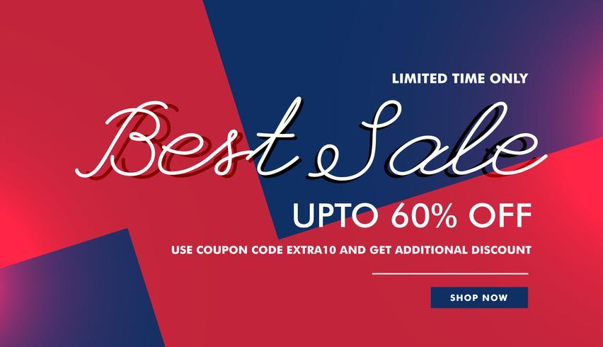 best sale discount voucher banner template vector design backgro