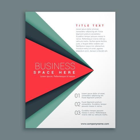 design de brochures élégant avec une forme géométrique
