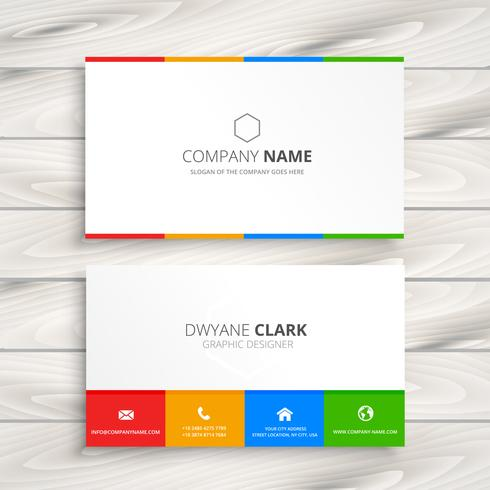 Clean White Business Card Vector Design Illustration
