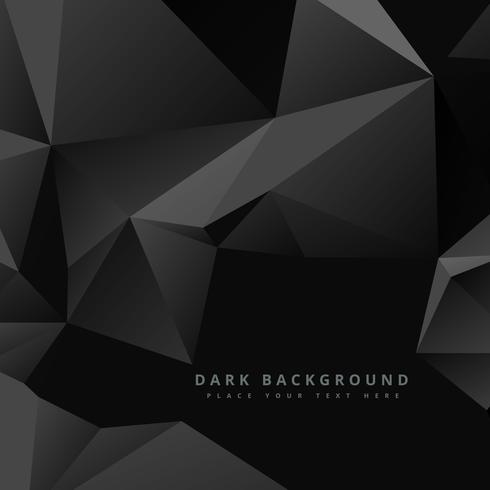 abstract dark low poly design