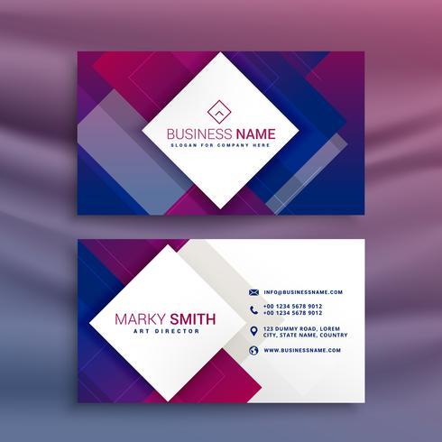 moderner lila Visitenkarteentwurf für Ihre Marke