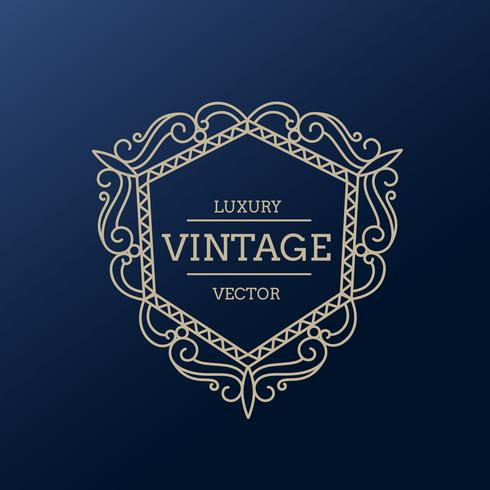 vintage luxury frame design illustration