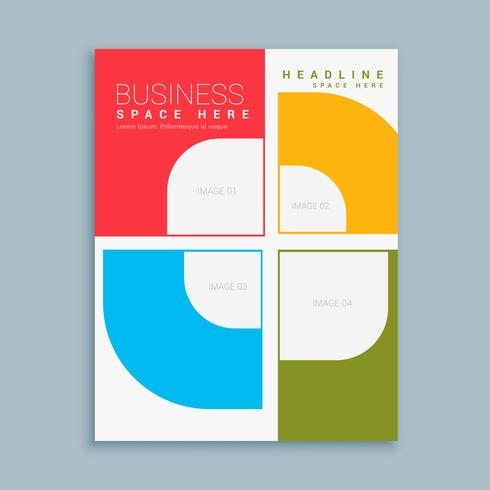 Company Brochure Template With Colorful Shapes  Download Free