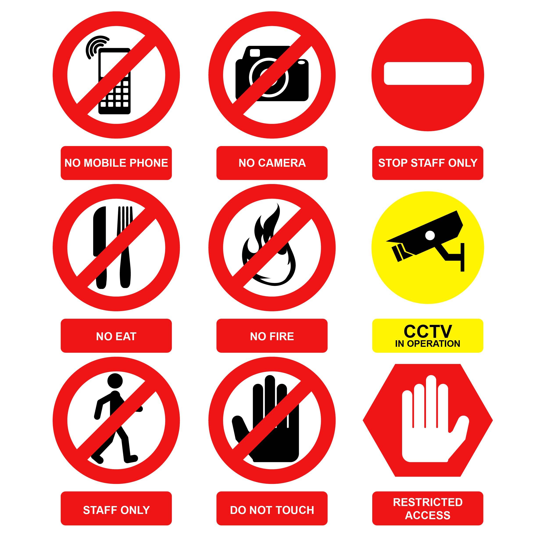 warning sign vector download free vector art stock