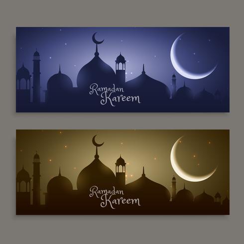 festival sagrado ramadan kareem banners
