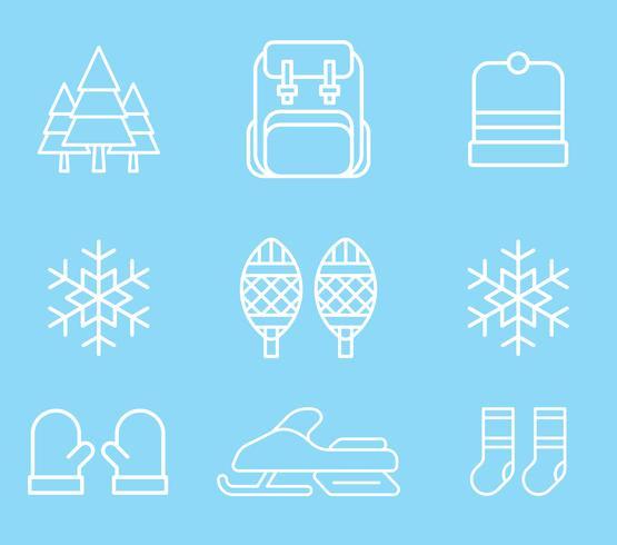 Winter Activities Icons vector