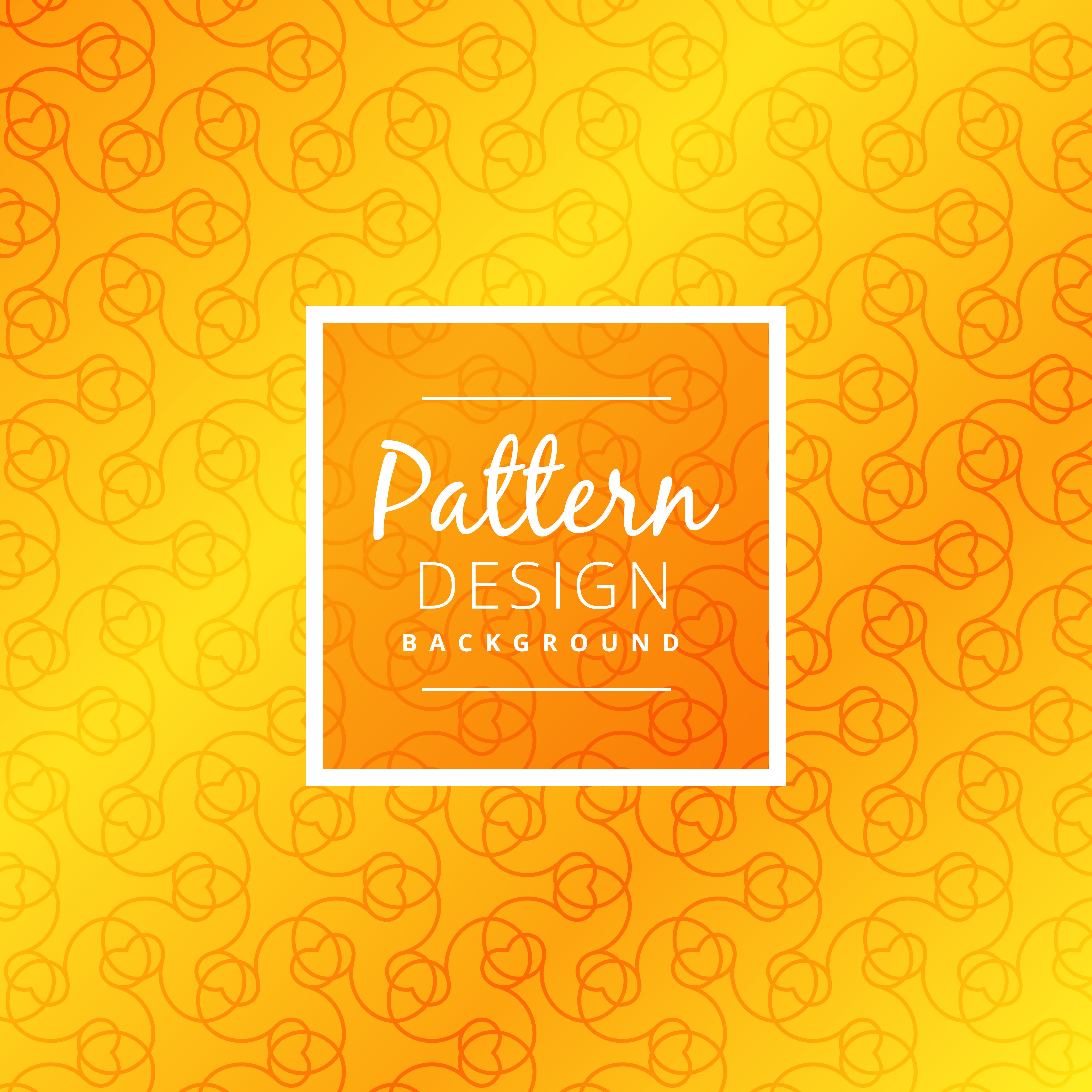 Vector Illustration Web Designs: Bright Yellow Pattern Background Vector Design